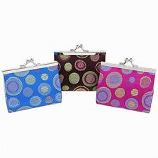 Silk Polka Dot Clasp Purse -  chinese silk clasp purse (large)