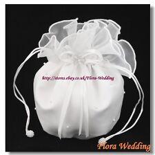 Satin & Organza Bridal Dolly Bag/Flower Girl Bridesmaid Handbag/Communion Pouch
