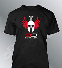 Tee shirt personnalise Lorenzo 99 S M L XL XXL homme col rond moto GP motogp c