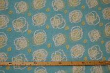 Vliesstoff (€25/m²) 0,5m applizierte gelbe Rosen Wolle Fleece 1,5m breit