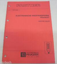 Werkstatthandbuch Peugeot Partner Elektronische Wegfahrsperre Valeo ,06-1998