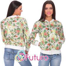 femmes pull avec poches motif fleur haut survêtement tailles 8-14 fz67