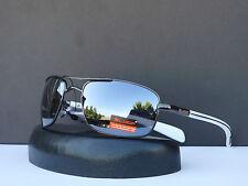 Designer X-Loop Mens Trendy Revo Mirrored Aviator Sunglasses + Soft Bag #1380