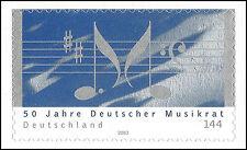 50 Jahre Deutscher Musikrat - 144 Ct. - aus Markenset - postfrisch - Mi.Nr. 2380