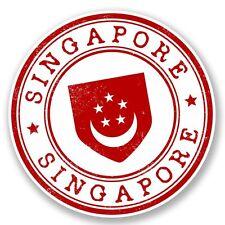 2 x Singapore Vinyl Sticker Laptop Travel Luggage #4509