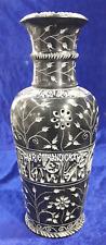 Modern Black Marble Vase Hand Carved Stone Decorative Outdoor Decor Art H4177