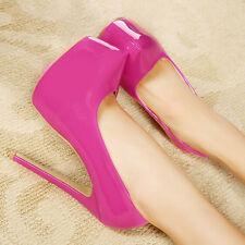 Womens Super High Heel Stiletto Pumps Platform Party Sexy Wedding Shoe Stage