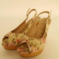 Lotus Limonia Natural Print Wedge Heel Sandal Ex Display £19.99