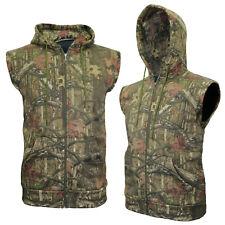 Mens RealTree Jungle Hoodie Cap Sleeve Fishing Jacket Hiking Hunting M Up To 2XL