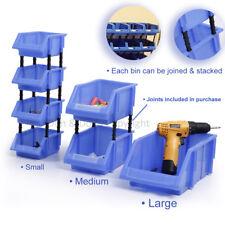 Storage Bin Stackable Tool Box Garage Warehouse Sorting Solution DIY Organizer