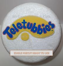 "TELETUBBIES 5"" Badge Precut Printed Edible Cake Topper Decoration birthday party"