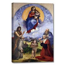Raffaello Madonna di Foligno quadro stampa tela dipinto telaio arredo casa