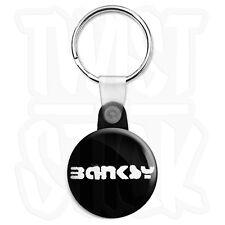 Banksy - Tag Logo - 25mm Graffiti Keyring Button Badge with Zip Pull Option
