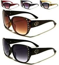 New Womens Ladies Girls Vintage Retro Large Diamante Designer Sunglasses SE62