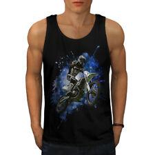 Motocross Bicicleta Sport Car Men Camiseta sin mangas Nuevo | wellcoda