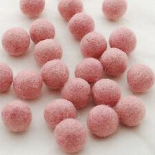 100% Wool Felt Balls - 100 Count - Pastel Pink Felt Balls - 5 sizes to choose