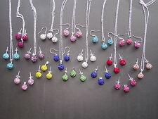 Royaume-uni bijoux shamballa clous & pendants d'oreilles/collier pendentif ensembles/bracelets