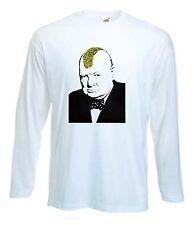 Banksy Turf GUERRA Manica Lunga T-Shirt-Winston Churchill CRESTA PUNK-S a XXL