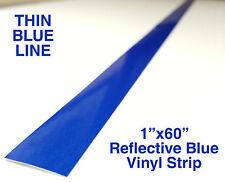 "1""x60"" THIN BLUE LINE WINDOW STRIP Blue Vinyl Decal Sticker Police Lives Matter"