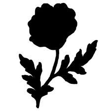 Sticker Fleur 15x11cm à 40x30cm, Tailles et Coloris Divers (FLEUR009)