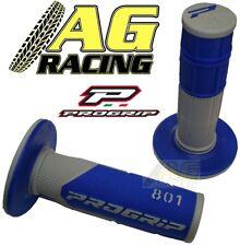 Pro Grip Progrip 801 Grips Grey Blue Motocross Enduro Honda CR CRF XR XL CRM