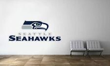 Seattle Seahawks Logo Wall Decal NFL Football Decor Sport Mural Vinyl Sticker