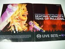 Christina Aguilera Supersized 2006 Promo Poster Ad mint