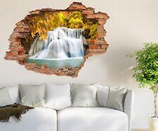 3D Maple Leaf Falls 666  Wall Murals Wall Stickers Decal breakthrough AJ CA