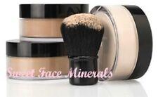 4 pc. Full Size Kit Kabuki Mineral Makeup Set Bare Skin Sheer Powder Foundation