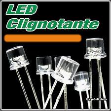 435O# LED cylindrique 5mm orange clignotante 5 à 100pcs Flat Top flashing