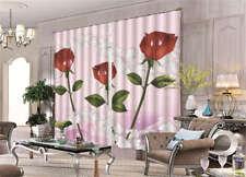 Tender Beautiful Rose 3D Curtain Blockout Photo Printing Curtains Drape Fabric