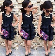 Toddler baby girls' summer black dress Princess Party Wedding Dresses