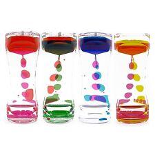 Traditional Style Bubbler Liquid Motion Timer Hourglass Neon Colors Desk Decor