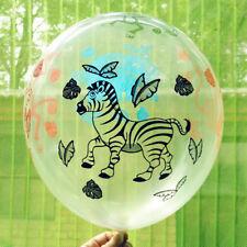 Safari Animal Fiesta Estampado Globos látex Decoración Niños Celebración GLOBOS
