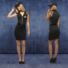Ladies fancy dress FBI Costume Agent Police Outfit Investigator