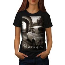 Car Retro Funky Vintage Women T-shirt S-2XL NEW | Wellcoda