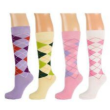 Light Coloured Argyle Calf Socks