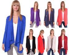 Damen Cardigan Umhang Poncho Jacke Strickjacke Langarm Sweater S M L XL 2XL 3XL