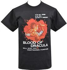 MENS T-SHIRT BLOOD DRACULA VINTAGE HORROR B-MOVIE VAMPIRE GORE HALLOWEEN S-5XL