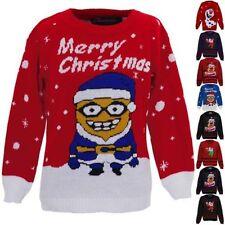 Filles Olaf Favori Renne Rudolf Santa Enfants Tricoté Noël tricot