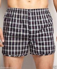 12 Pairs Men Woven Boxer Shorts Loose Fit Cotton Designer Underwear SIZE S-5XL