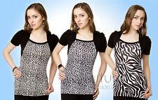 """Nuevo Leopardo Cebra Blusa Estampado """"TAKANORI"""" Camiseta / S2229"""