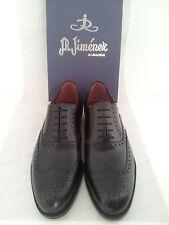 Mens Oxford Shoes Leather JR JIMENEZ Brown Black US Size 6 7 8 9 10 11 12 SPAIN