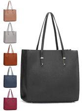 Womens New Designer Grab Tote Bags Ladies Top Handle Faux Leather Large Handbags