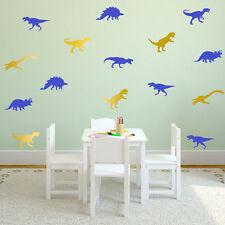 Aufkleber Dinosaurier DIY Wandtattoo Deko Sticker T-Rex Tyrannosaurus Gold Blau