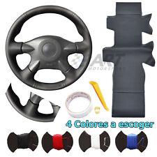 Funda de volante para Nissan Almera Primera X-trail en cuero liso + perforado