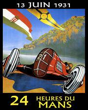 24 Hours of Le Mans June 1931 Car Automobile Race Vintage Poster Repro FREE S/H