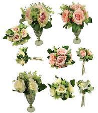 Rosen Bund 32 cm Kunstblumen Rose Blumen Blumenstrauß Seidenblumen Hochzeit