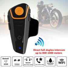 1000M Motorcycle Bluetooth Intercom Interphone Wireless Helmet Headset Riders