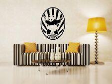 Starburst BANKSY PANDA CON PISTOLE-moderna ADESIVI da Parete. molti Colori. NUOVO Regno Unito!